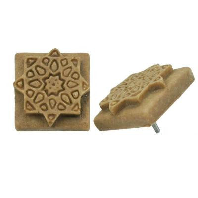Contempo Starburst Noce Travertine 1-1/5 in. x 1-1/5 in. Mosaic Medallion Pin Insert Wall Tile (4-Pack )