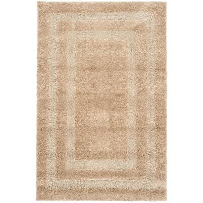 Shadow Box Shag Beige 8 ft. 6 in. x 12 ft. Area Rug