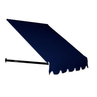 5 ft. Dallas Retro Window/Entry Awning (24 in. H x 36 in. D) in Navy