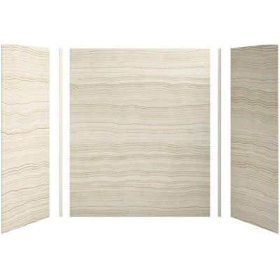 Choreograph 60in. X 32 in. x 72 in. 5-Piece Bath/Shower Wall Surround in VeinCut Biscuit for 72 in. Bath/Showers