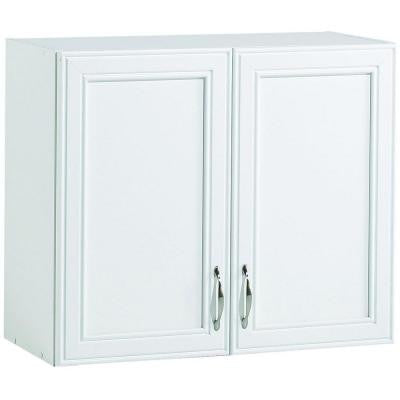 28 in. W 2-Shelf Laminate Wall Cabinet in White