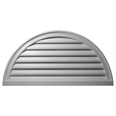 2 in. x 60 in. x 30 in. Decorative Half Round Gable Louver Vent