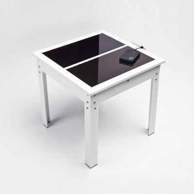 Savana Solar Powered Patio Table with Power Bank 5 for Charging Portable Devices