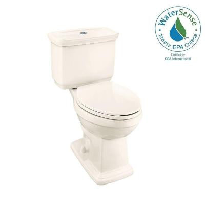2-piece 1.0 GPF/1.28 GPF High Efficiency Dual Flush Elongated Toilet in Bone