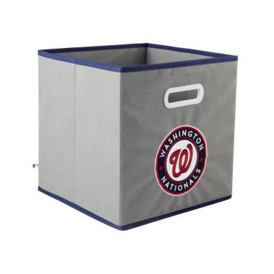 MLB STOREITS Washington Nationals 10-1/2 in. x 10-1/2 in. x 11 in. Grey Fabric Storage Drawer