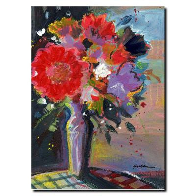 35 in. x 47 in. Sunlight Bouquet Canvas Art