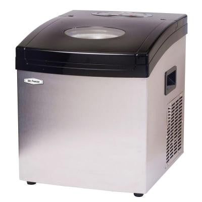 33 lb. Freestanding Ice Maker in Stainless Steel