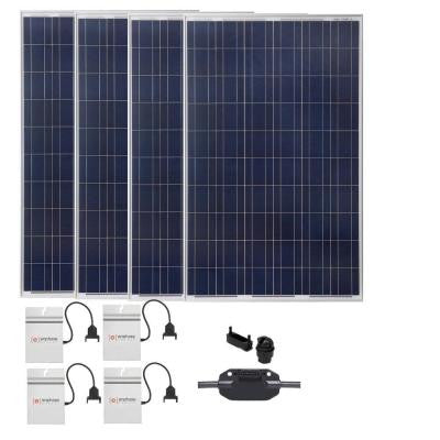 1,060-Watt Expandable Poly-Crystalline PV Grid-Tied Solar Power Kit