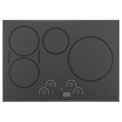 Cafe 30 in. Electric Induction Cooktop in Stainless Steel with 4 Elements