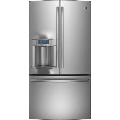 Profile 27.7 cu. ft. French Door Refrigerator in Stainless Steel
