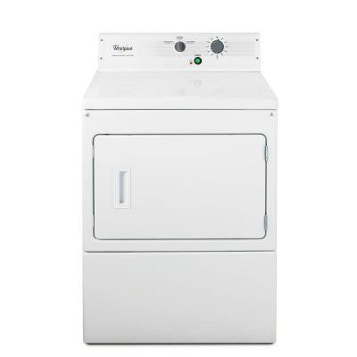 Heavy-Duty Series 7.4 cu. ft. Commercial Gas Dryer in White