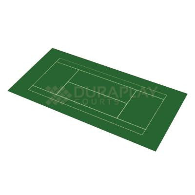 51 ft. x 99 ft. 11 in. Slate Green and Slate Green Full Tennis Court Kit