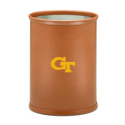 13 in. Georgia Tech Basketball Texture Oval Trash Can