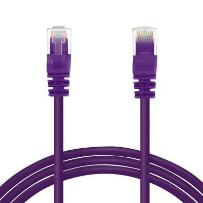 25 ft. Cat5e RJ45 Ethernet LAN Network Patch Cable - Purple (5-Pack)