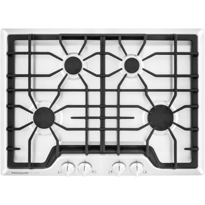 Gallery 30 in. Gas Cooktop in White with 4 Burners