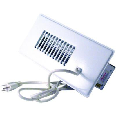 Cyclone Booster Fan Plus with Built-In Thermostat in White