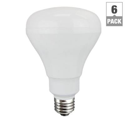 65W Equivalent Soft White (2700K) BR30 Non-dimmable LED Flood Light Bulb (6-Pack)