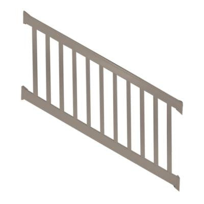 Vanderbilt 3.5 ft. x 96 in. Vinyl Khaki Stair Railing Kit
