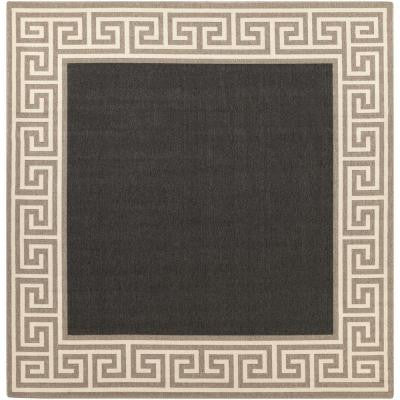 Bishorn Navy 8 ft. 9 in. x 8 ft. 9 in. Square Indoor/Outdoor Area Rug