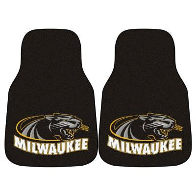 NCAA University of Wisconsin Milwaukee Heavy Duty 2-Piece 18 in. x 27 in. Nylon Carpet Car Mat