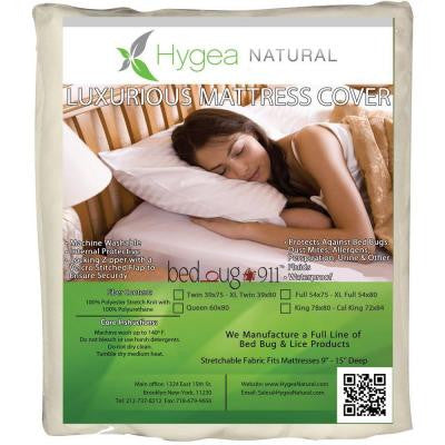 Hygea Mattress Cover Dust Mites and Allergen Proof Stretchable Twin Waterproof