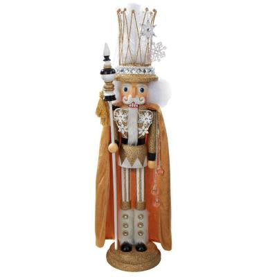 28 in. Hollywood with Crown and Gold Cape Nutcracker