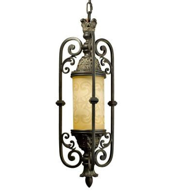 Glenhaven Collection Antique Iron Outdoor Hanging Pendant