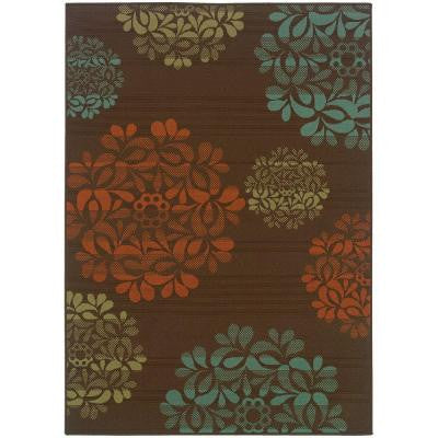 Hilo Brown 5 ft. 3 in. x 7 ft. 6 in. Area Rug