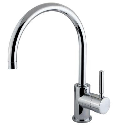 Single Hole 1-Handle High-Arc Bathroom Vessel Faucet in Polished Chrome