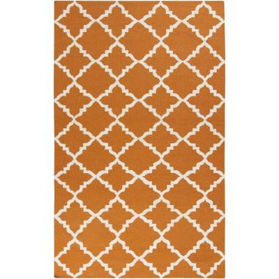 Alea Burnt Orange 5 ft. x 8 ft. Indoor Area Rug