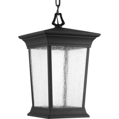 Arrive Collection 1-Light Black LED Hanging Lantern