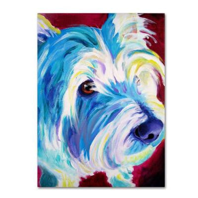 "19 in. x 14 in. ""Westie"" by DawgArt Printed Canvas Wall Art"