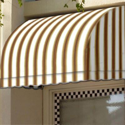 20 ft. Savannah Window/Entry Awning (44 in. H x 36 in. D) in White/Linen/Terra cotta Stripe