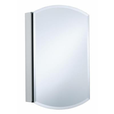 Archer 20 in. W x 31 in. H Single Door Mirrored Recessed Medicine Cabinet in Anodized Aluminum