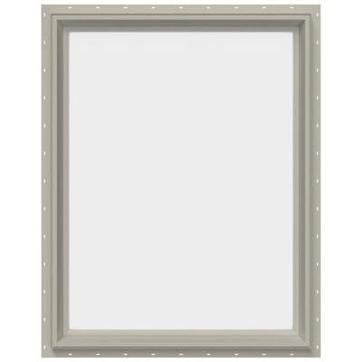 29.5 in. x 35.5 in. V-2500 Series Fixed Picture Vinyl Window - Tan