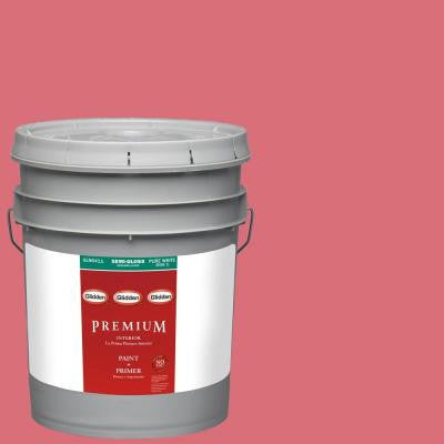5-gal. #HDGR34U Strawberry Rouge Semi-Gloss Latex Interior Paint with Primer