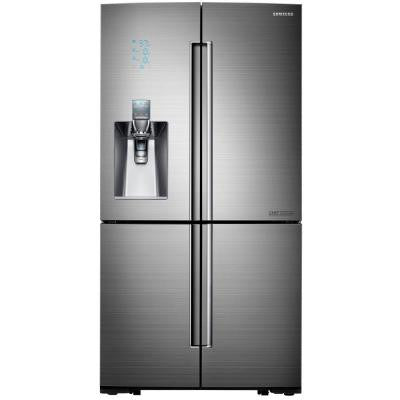 Chef Collection 24.1 cu. ft. 4 DoorFlex French Door Refrigerator in Stainless Steel, Counter Depth