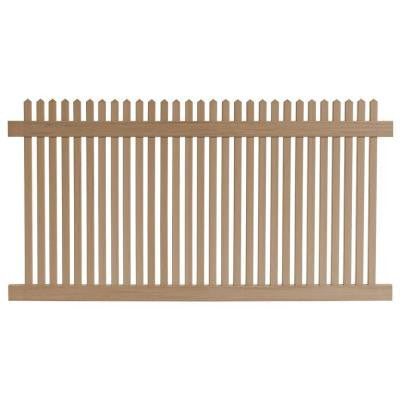4 ft. x 8 ft. Cedar Grove Redwood Vinyl Picket Fence Panel