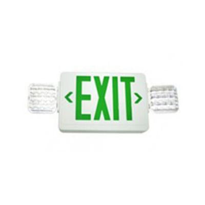 Nexis 2 Light Die Cast Aluminum LED Single Face NiCad Battery Emergency Green Exit/Combo