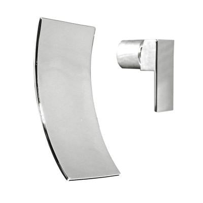 Accent Wall-Mount 1-Handle Waterfall Bathroom Faucet in Polished Chrome