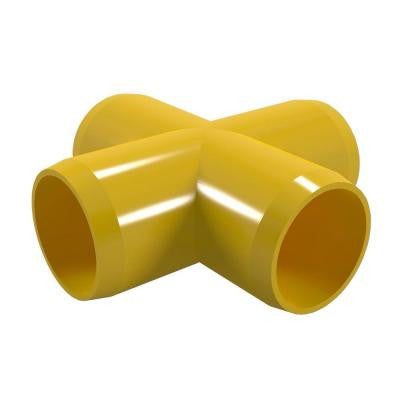 3/4 in. Furniture Grade PVC Cross in Yellow (8-Pack)