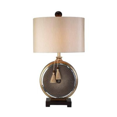 32 in. Antique Brass Mosaic Table Lamp