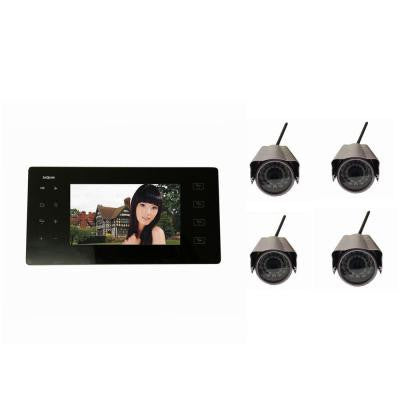 4-Channel Portable Wireless DVR with 4 Cameras