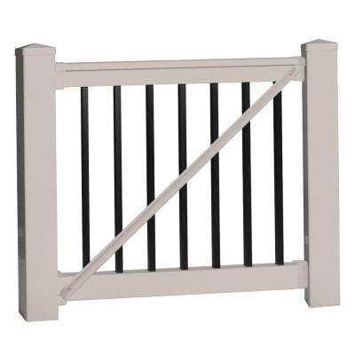 Vilano 42 in. x 60 in. Vinyl Tan Gate Rail Kit