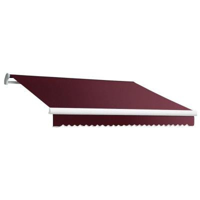 12 ft. MAUI EX Model Right Motor Retractable Awning (120 in. Projection) in Burgundy