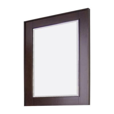 32-in. W x 36-in. H Transitional Birch Wood-Veneer Wood Mirror In Tobacco