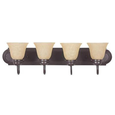 O'Meara 4-Light Oil Rubbed Bronze Bath Vanity Light