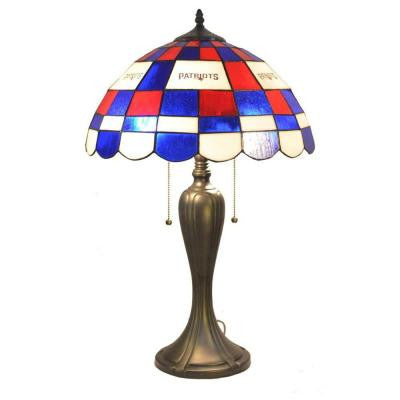 24 in. Tiffany New England Patriots Desk Lamp