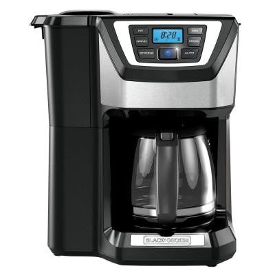 12-Cup Mill N Brew Black with Stainless Steel