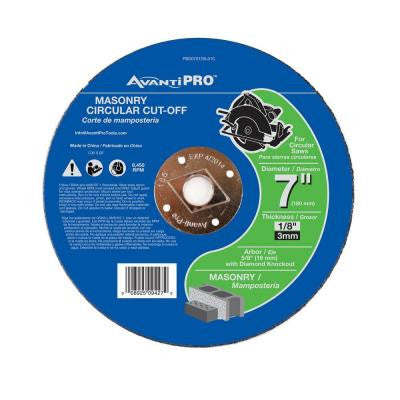 7 in. x 1/8 in. x 5/8 in. Masonry Cut-Off Disc